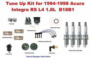 Tune Up Kit For 94 98 Acura Integra Rs Belt Distributor Cap Rotor Spark Plug