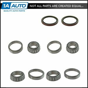 Front Inner Outer Wheel Bearing Seal 6 Piece Kit For Chevy S10 Regal El Camino