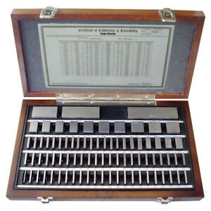 81 Piece Grade As 0 2 Square Steel Gage Block Set 4101 0051