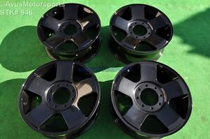 20 Ford F250 F350 Super Duty Oem Factory Wheels Fx4 Lariat Gloss Black