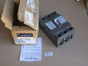 New In Box Ge 30 Amp Industrial Circuit Breaker Ted136030 600vac 250vdc 3 Pole