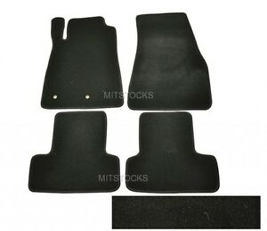 Fit For 2005 2014 Ford Mustang Cobra Black Nylon Carpet Floor Mats 4 Pieces