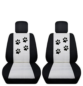 Fits 2015 To 2016 Ford Focus Velvet Paw Print Seat Covers Airbag Friendly