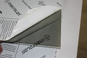 Makrolon Ar2 mr10 Lexan Gray Polycarbonate Sheet 1 4 X 12 X 62
