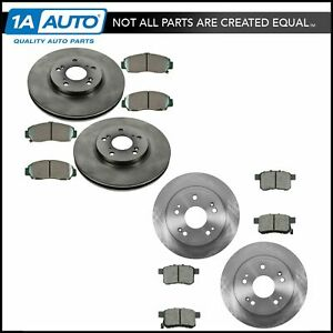 Front Rear Premium Posi Ceramic Disc Brake Pad Rotor Kit For Tsx Accord New
