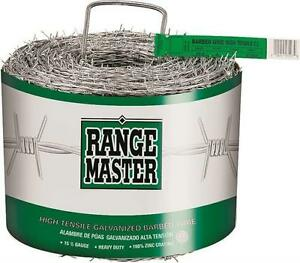 Rangemaster 7203 4 point Barbed Wire 1320 Ft L 5 In Barb Zinc Coated