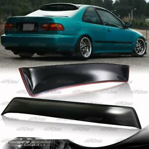 For 1992 1995 Honda Civic Ex Dx 2 Door Abs Rear Roof Window Visor Spoiler Wing
