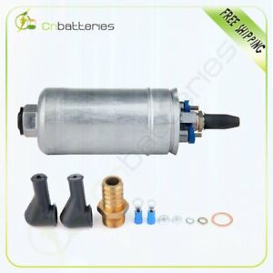 300lph Universal External Inline Fuel Pump With Installation Kit 0580254044