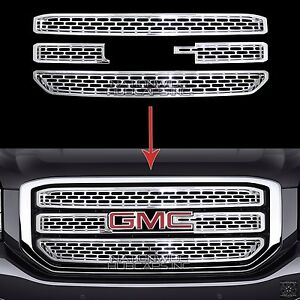 2015 2020 Gmc Yukon Xl Chrome Snap On Grille Overlay 3 Bar Grill Covers Inserts