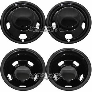 Fits Dodge Ram 3500 2003 19 Black 17 Dually Wheel Simulators Dual Skins Liners