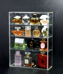 Usa perfume Display Case Acrylic Countertop Display Case 10 X 4 5 X 16 5 Lock