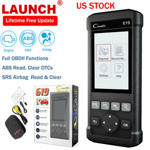 Launch Creader 619 Obd2 Car Code Reader Abs Srs Airbag Diagnostic Engine Scanner