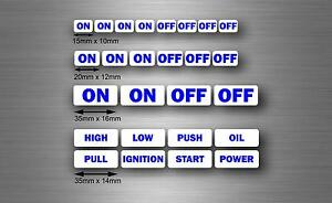 Set 26x Sticker Car Button Switch On Off Jdm Decal Tuning Tribal Kit Starter R3