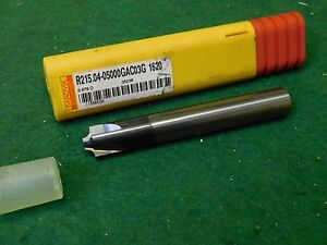 Sandvik Solid Carbide Corner Rounding End Mill 3mm 1 8 R215 04 05000gac03g 1620