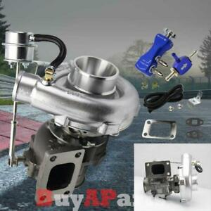 Vband T3 T4 Turbochargers W 8psi Internal Wastegate Boost Controller Blue