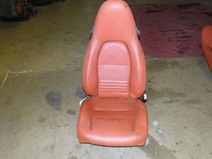 2000 Porsche Boxster S Right Hand Front Seat With Memory Elec Red Leather