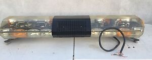 Code 3 Pse 47 Amber Clear Light Bar Tested Working Clean