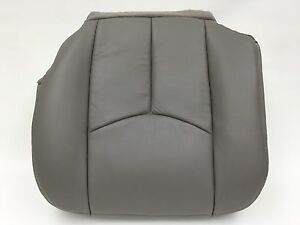 2003 2006 Chevy Avalanche Silverado Leather Seat Cover Driver Bottom Pewter Gray