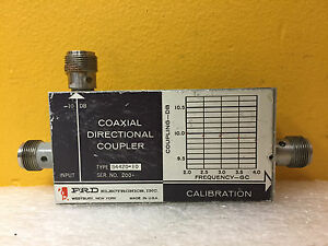 Prd S4420 10 2 To 4 Ghz 10 Db Type N f Coaxial Directional Coupler