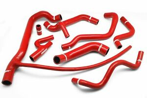 Fit Vw Volkswagan G60 Corrado Red Silicone Radiator Ancillary Heater Hose Kit