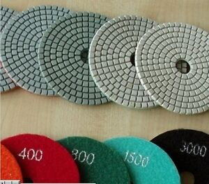 5 Diamond Polishing Pad 70 Piece Grit 15 10k Granite Concrete Glass Marble Care