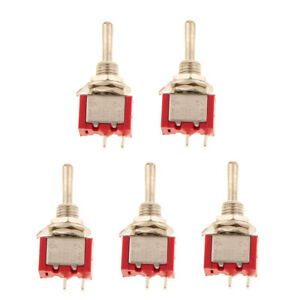 5pcs On off Sub Miniature Small Mini Electrical Toggle Switch Spst 2 Pin