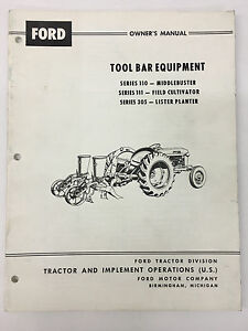 Ford Tractor Tool Bar Equipment Owner s Manual