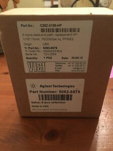 Agilent 5063 6575 8 Port Valve For Dissolution System new