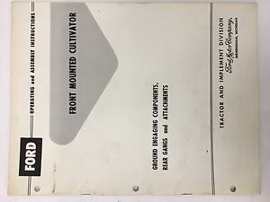 Ford Tractor Series 6000 701 901 Front Mounted Cultivator Manual