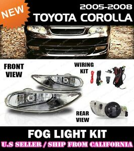 Complete Fog Light Kit For Toyota 05 06 07 08 Corolla Switch Wiring