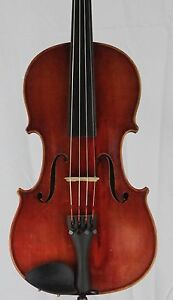 Nice Old Antique 4 4 Violin German Ludwig Paganini Two Piece Back 360mm