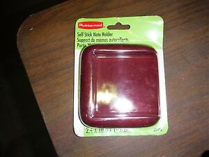 Rubbermaid 3 x3 Post it Notes Burgundy Holders P n 1979 100 Per Lot