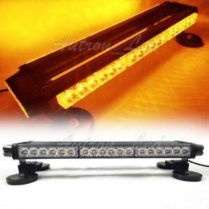 21 42w Led Traffic Advisor Warning Emergency Flash Roof Strobe Light Bar Amber