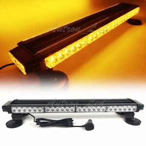 28 54 Led Traffic Advisor Double Side Flash Warning Roof Strobe Light Bar Amber