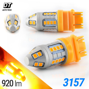 50w 3157 Led Front Turn Signal Parking Drl High Power Amber Yellow Light Bulbs