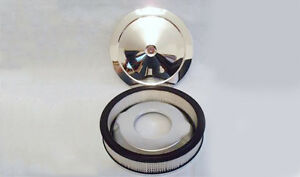 4 Barrel Muscle Car Style Chromed Air Cleaner Filter Kit Street Rod Old School