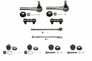 10 Piece Tie Rod Ball Joint Kit Fits 1987 1997 Ford F250 F350 2wd