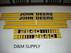 John Deere 2640 Tractor Decal Set
