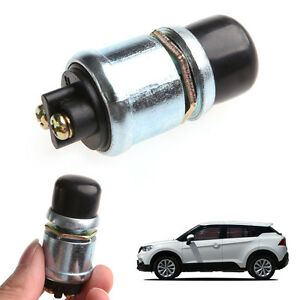 Car Boat Track Waterproof Engine Switch Horn Push Button Start Starter 12v 20a