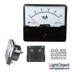 New Dc 100ma Analog Current Amp Meter