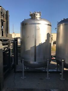 750 Gallon 316l Stainless Steel Pressure Vessel Tank 80 Psi By Watson Metals