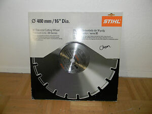Stihl Cutoff 16 Diamond Cutting Wheel Premium Line 80 Series 0835 090 2028