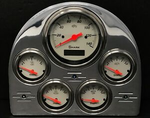 1952 1953 Ford Car Gauge Cluster Shark