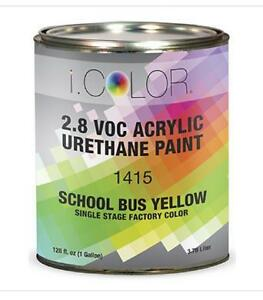 School Bus Yellow Gallon Kit Single Stage Acrylic Urethane Auto Paint Kit