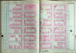 1909 8th Regiment Armory Carnegie Hill E89th To E95th St Manhattan Ny Atlas Map