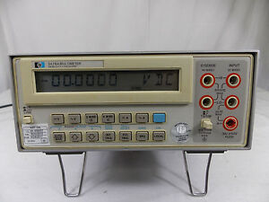 Hp 3478a Digital Multimeter W Cal Sticker 8 22 2015 To 4 24 2017 tested