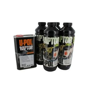 U Pol Products 0820 Raptor Black Truck Bed Liner Kit 4 Liter Upol