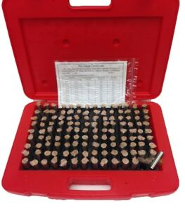 125 Piece m3 Pin Gage Set 501 625 4101 0013
