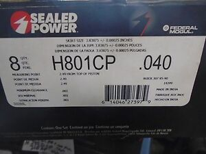 Sealed Power H801cp040 Pistons Hypereutectic Dish 85 90 Buick 307 8 Each