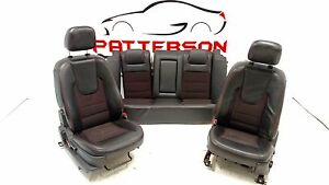 2009 Ford Fusion Black Leather Seats Left Right Front Bucket And Rear Full Set